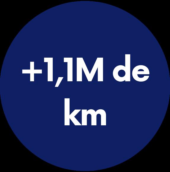logo +1,1M km